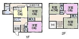[一戸建] 三重県松阪市鎌田町 の賃貸【三重県 / 松阪市】の間取り