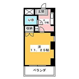 吉野屋ビルリーフコート[4階]の間取り