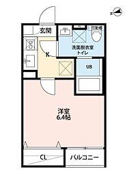 仙台市地下鉄東西線 連坊駅 徒歩6分の賃貸アパート 1階1Kの間取り