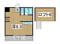 コートアネックスR-1[2階]の間取り