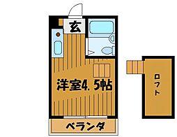 東京都国分寺市東恋ヶ窪3丁目の賃貸アパートの間取り