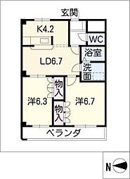 F・ロッシュ[1階]の間取り