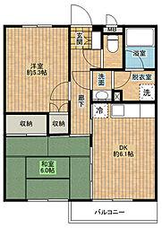 エスポワール北浜[4階]の間取り