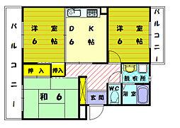 シティホールOZONO[4階]の間取り