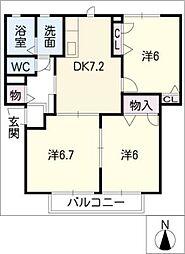 orange court A[1階]の間取り