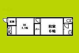 黒松荘[2階]の間取り