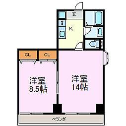 ヒルトップハウス[7階]の間取り
