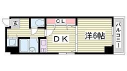 スタッツア神戸[4階]の間取り
