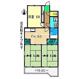 高須ハウス20[3階]の間取り