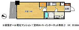 SERENiTE三宮[3階]の間取り