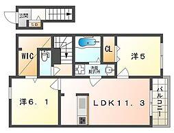 Cozy place[2階]の間取り