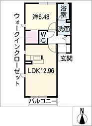 ウエストハウスII[1階]の間取り