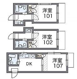 旗の台第2[1階]の間取り
