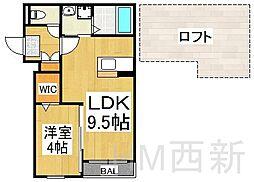 福岡県福岡市城南区梅林5丁目の賃貸アパートの間取り