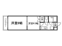 スプレール田中[3階]の間取り