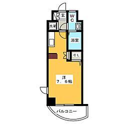 エンクレスト天神東[11階]の間取り