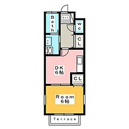 グラツィア[1階]の間取り