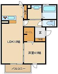 D−room y[1階]の間取り