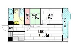 チサンマンション第一江坂[5階]の間取り