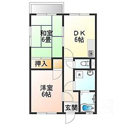 滋賀県甲賀市甲南町新治の賃貸アパートの間取り