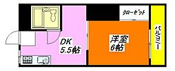 レジェンド小阪 302号室[3階]の間取り