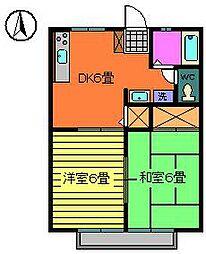 リバーサイド・ビラ2階Fの間取り画像