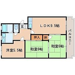 アパートメント311[302号室]の間取り