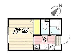 クレセント中野[2階]の間取り