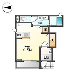 JR赤穂線 大多羅駅 徒歩32分の賃貸アパート 1階1Kの間取り