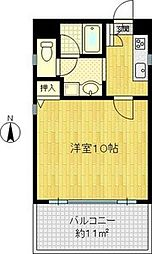 プリンスパーク2[4階]の間取り