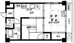 サンホワイト63[2階]の間取り