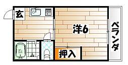 森ビル[2階]の間取り