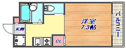 兵庫県神戸市東灘区岡本9丁目の賃貸マンションの間取り