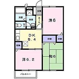宮崎県宮崎市大島町の賃貸アパートの間取り