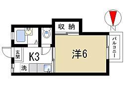 ファミール秋篠[1階]の間取り