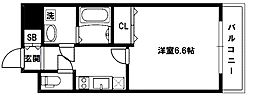 グランシス高井田[13階]の間取り