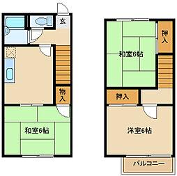 [タウンハウス] 兵庫県尼崎市瓦宮2丁目 の賃貸【/】の間取り