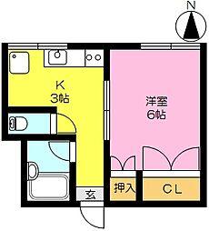 エタニティS本庄[C302号室]の間取り