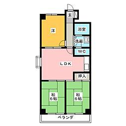 サンテラス花の木[4階]の間取り