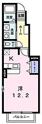 広島県福山市東川口町3丁目の賃貸アパートの間取り