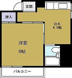 さつきマンション3番館[3階]の間取り