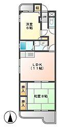 愛知県名古屋市北区石園町1丁目の賃貸マンションの間取り