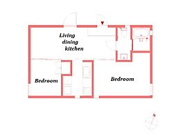 アパートメンツエフツー -apartmentsF2-[2階]の間取り