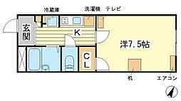 兵庫県赤穂市六百目町の賃貸アパートの間取り