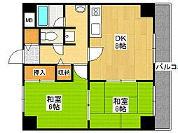 翠久マンション[3階]の間取り