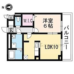 JR東海道・山陽本線 長岡京駅 バス22分 菱川町下車 徒歩7分の賃貸アパート 2階1LDKの間取り