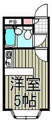 ベルピア鎌倉第3[101号室]の間取り