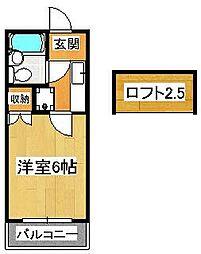 TOハイツ58[201号室]の間取り