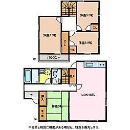 [一戸建] 長野県松本市横田3丁目 の賃貸【/】の間取り