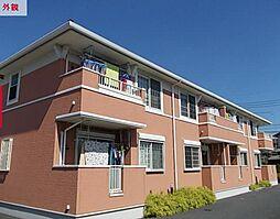 埼玉県東松山市大字上野本の賃貸アパートの外観